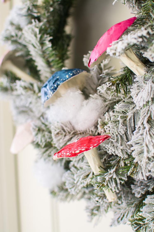 Paper Mushroom Wreath