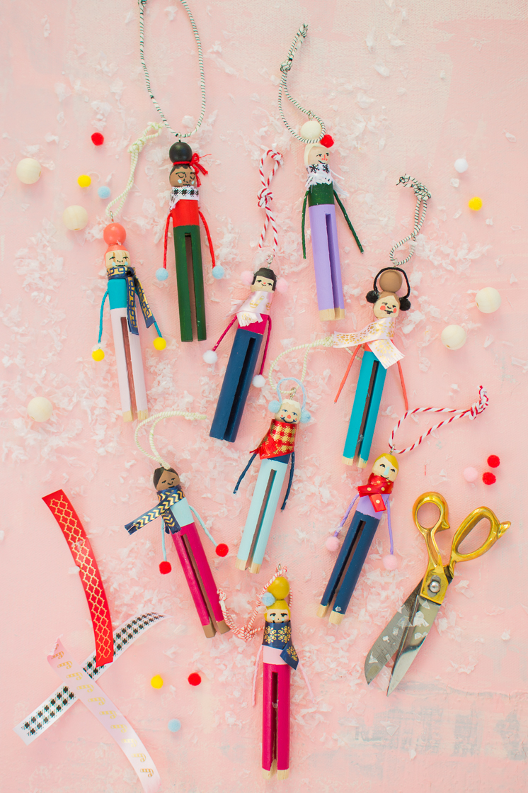 Clothespin People Ornaments