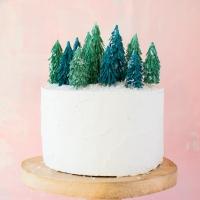 Crepe Paper Christmas Tree Cake Topper