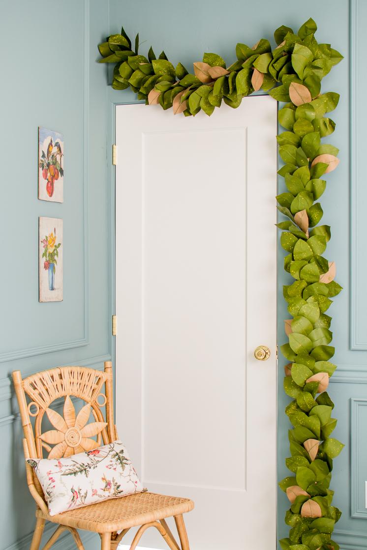 Paper Magnolia Leaf Garland