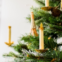 Paper Candle Christmas Tree Ornament