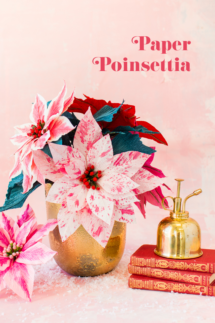 DIY Paper Poinsettia Flower