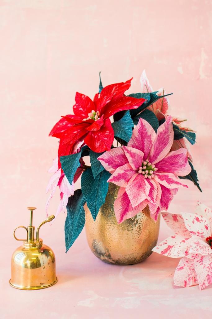 Paper Poinsettia Flower