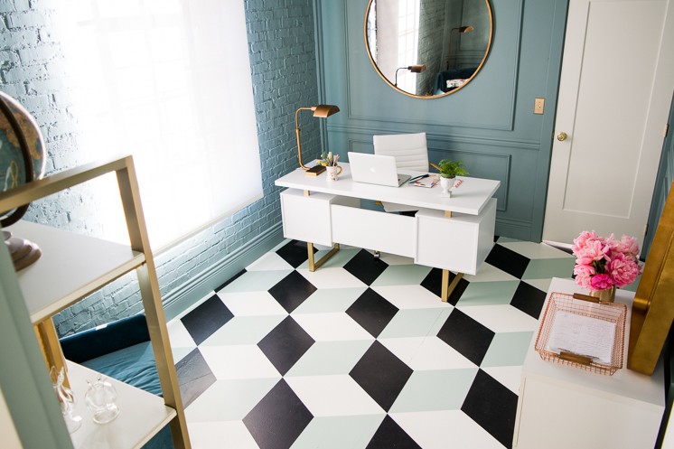 tumbling block floor pattern