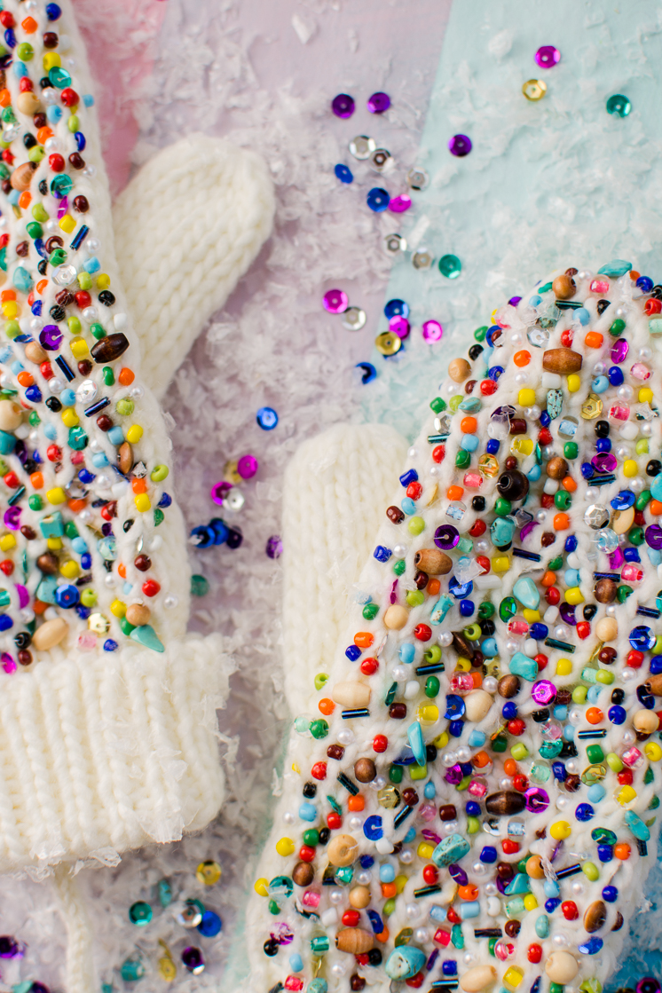 DIY Beaded Mittens