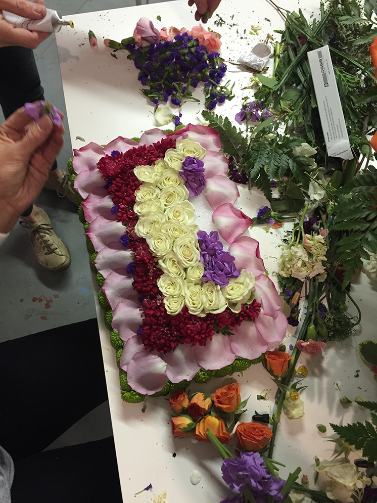 making a Rose Parade float tablescape