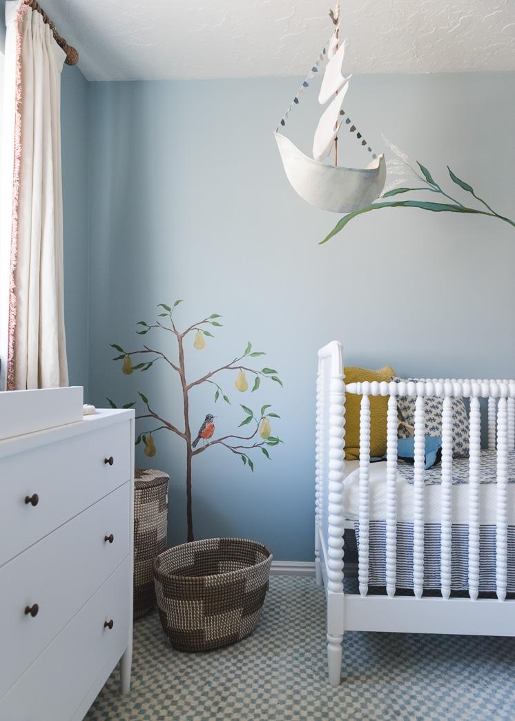 Baby boy nursery mural