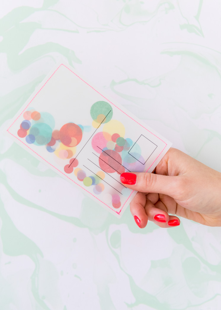 DIY Confetti Postcard