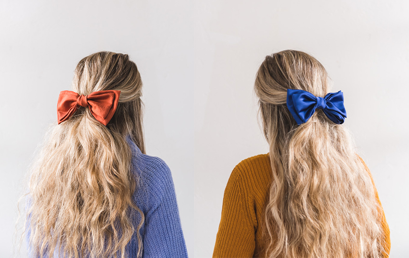 DIY silk bow