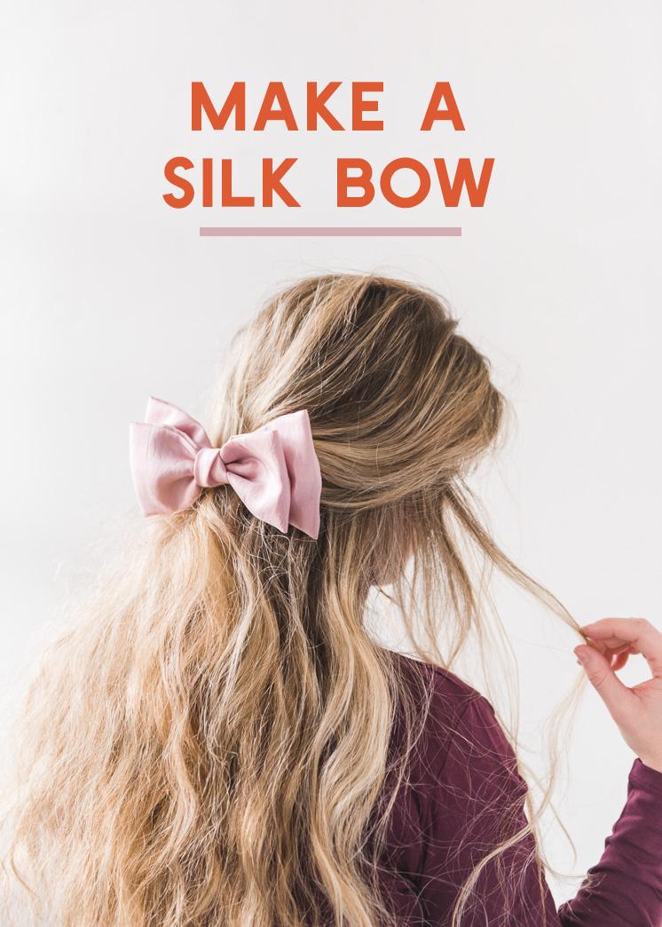 Diy Silk Hair Bow The House That Lars Built