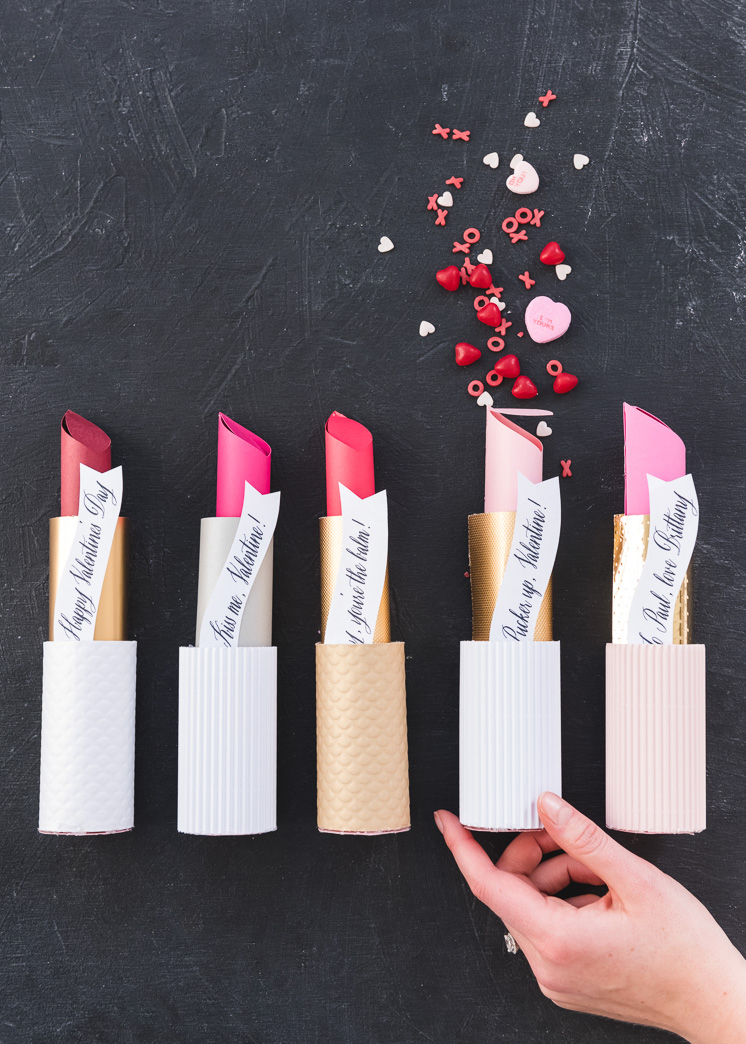Paper Lipstick Valentines