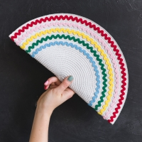 DIY ric rac clutch made from a placemat