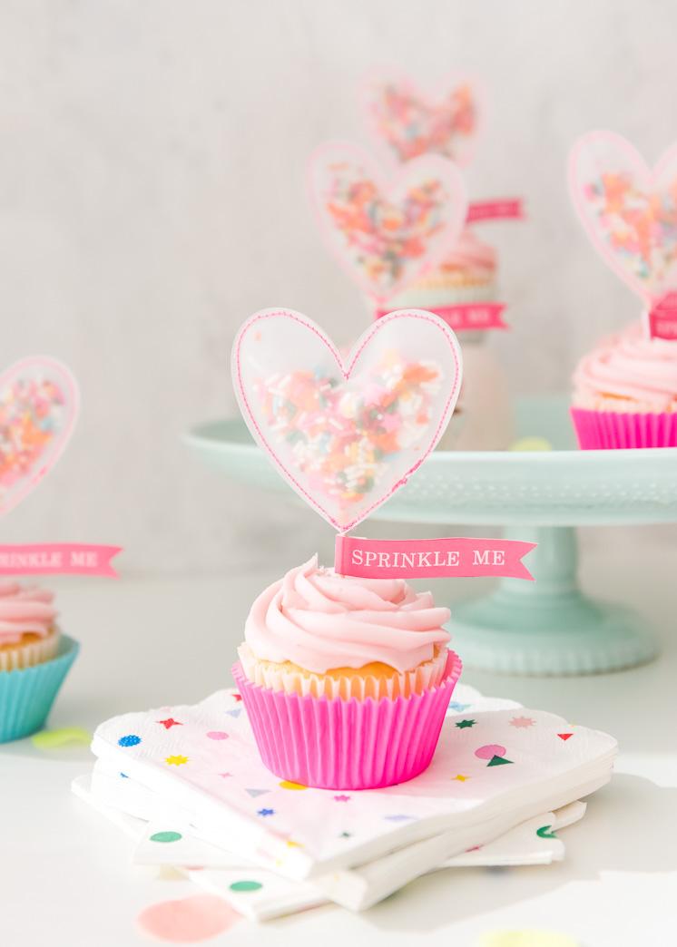 Sprinkle Me Cupcake Topper