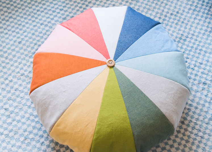 DIY Rainbow Floor Pouf