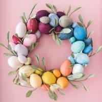 Rainbow Easter Egg Wreath