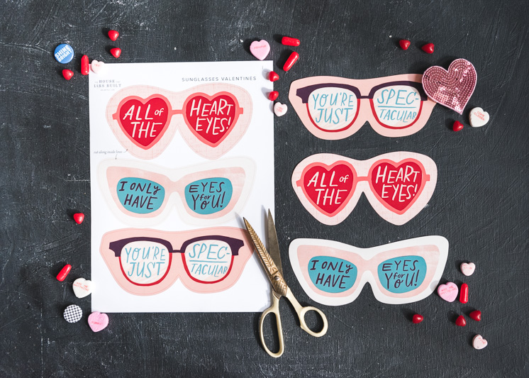Printable Valentine Sunglasses