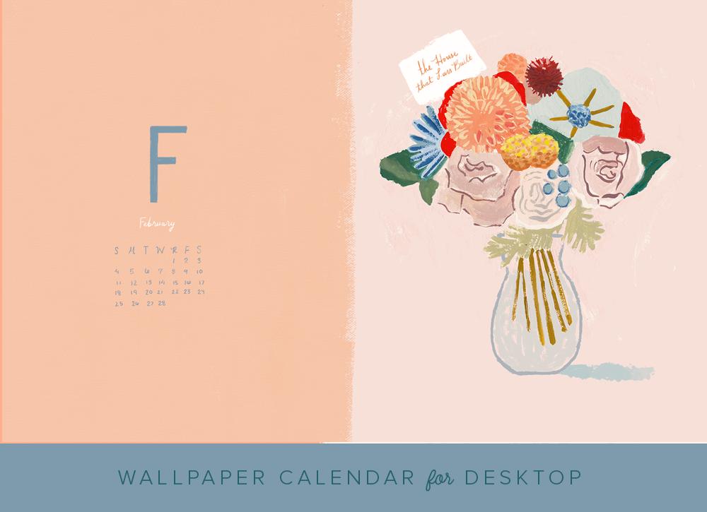 February 2018 desktop wallpaper calendar