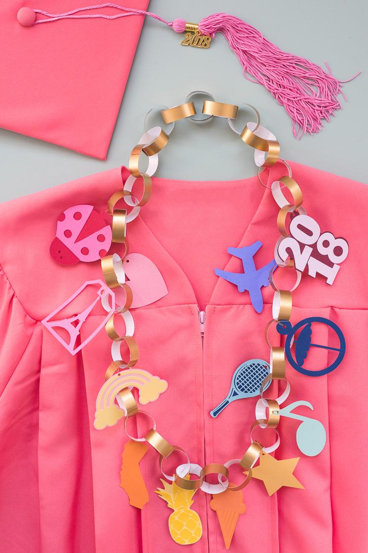 DIY Charm Bracelet Graduation Lei