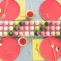 Easter Egg Runner Tablescape