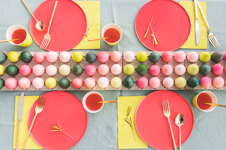 Easter Egg Runner Tablescape