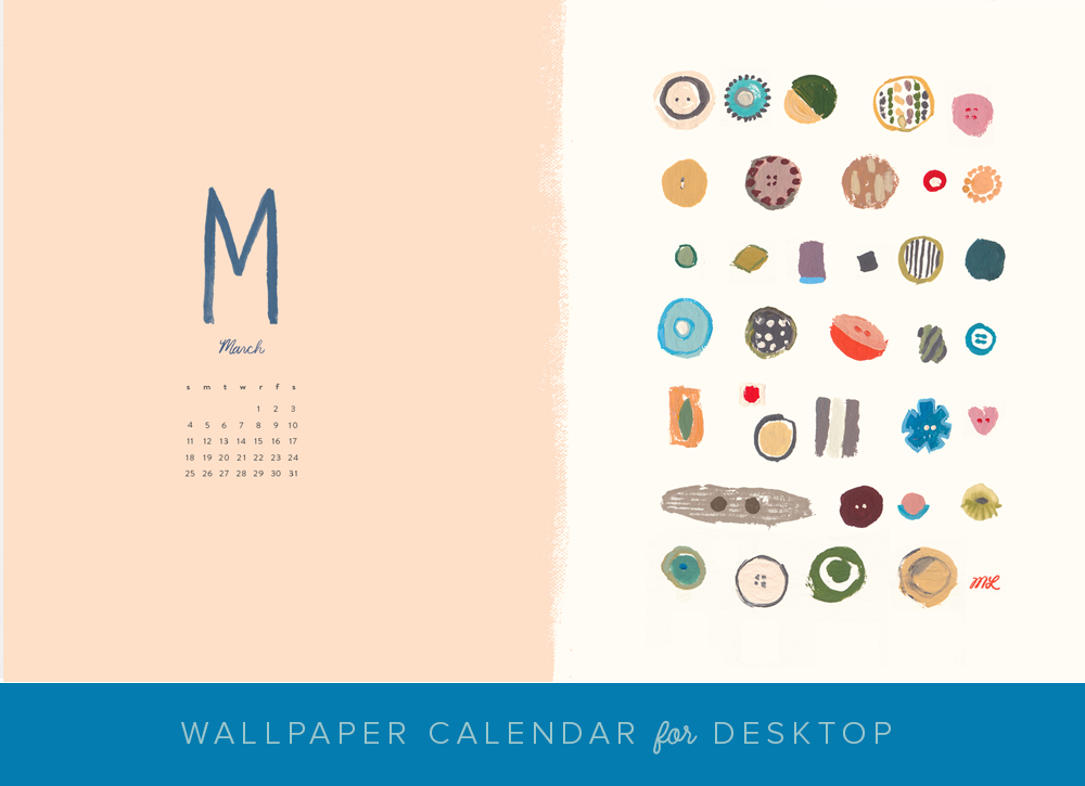 MARCH DESKTOP CALENDAR