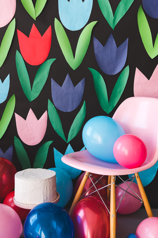 Paper Tulip Backdrop