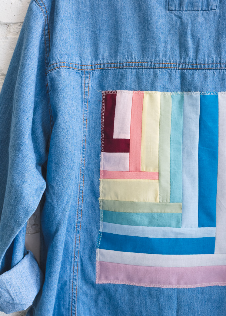 Denim Jacket Quilted Applique