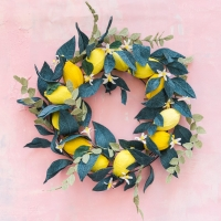 Crepe Paper Lemon Wreath