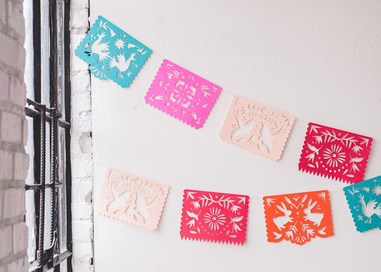 photograph relating to Papel Picado Printable named Printable Papel Picado Streamers - The Household That Lars Created
