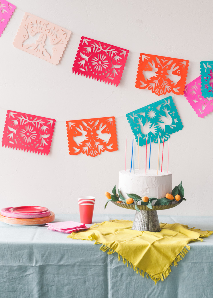 photograph relating to Papel Picado Template Printable called Printable Papel Picado Streamers - The Residence That Lars Developed