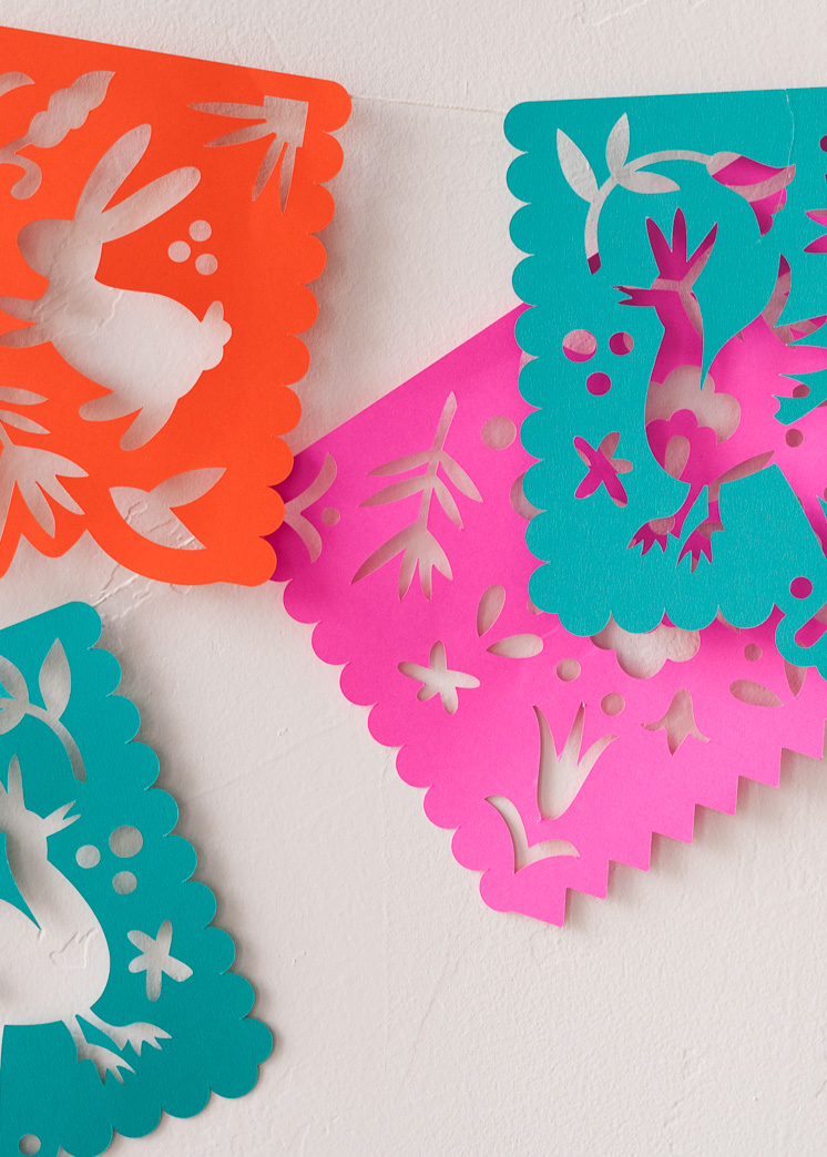 image relating to Papel Picado Template Printable called Printable Papel Picado Streamers - The Space That Lars Produced