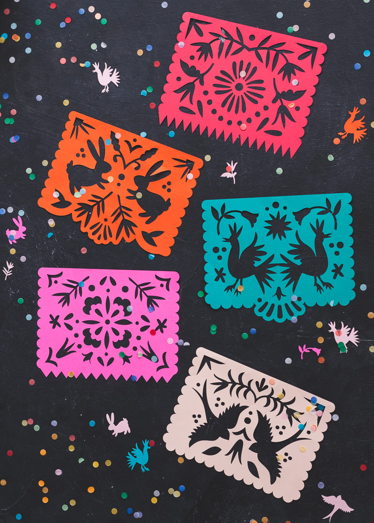 photo relating to Papel Picado Template Printable identified as Printable Papel Picado Streamers - The Household That Lars Crafted