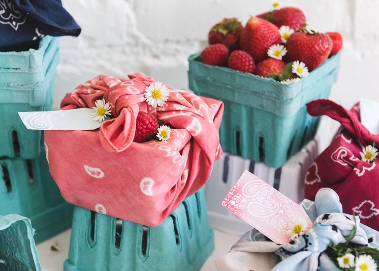 Bandana Berry Baskets