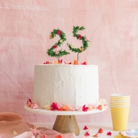 Floral Number Birthday Cake Topper