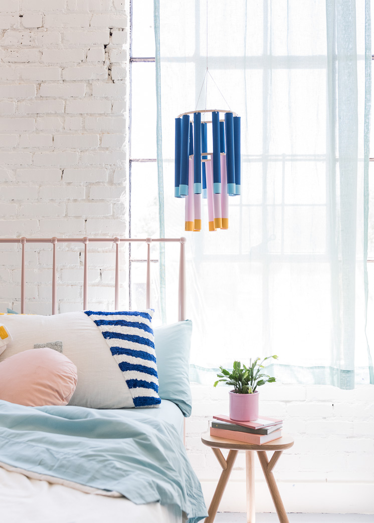 DIY Paper Tube Chandeliers