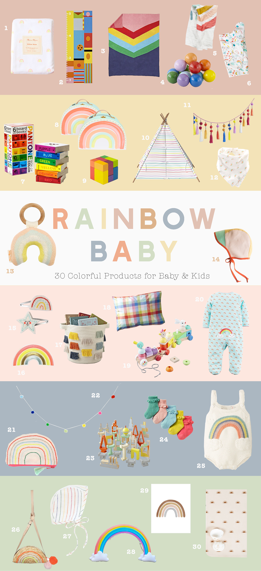 Rainbow Products for Baby