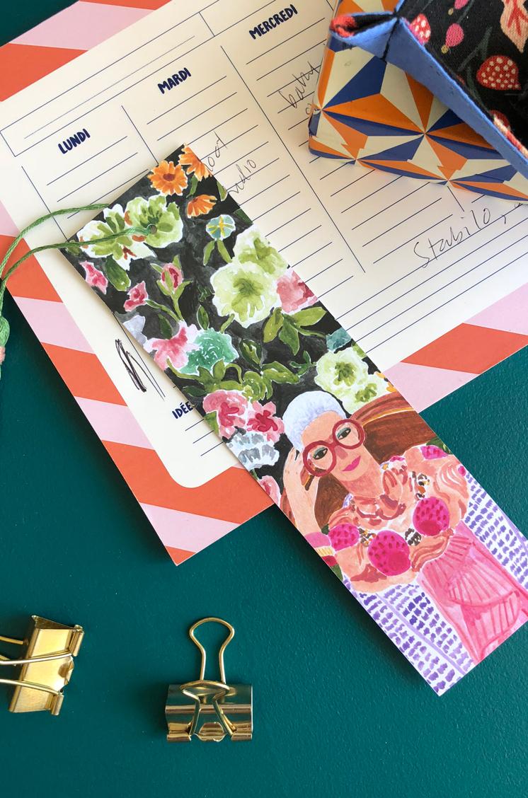 Iris Apfel June Book Club Artwork