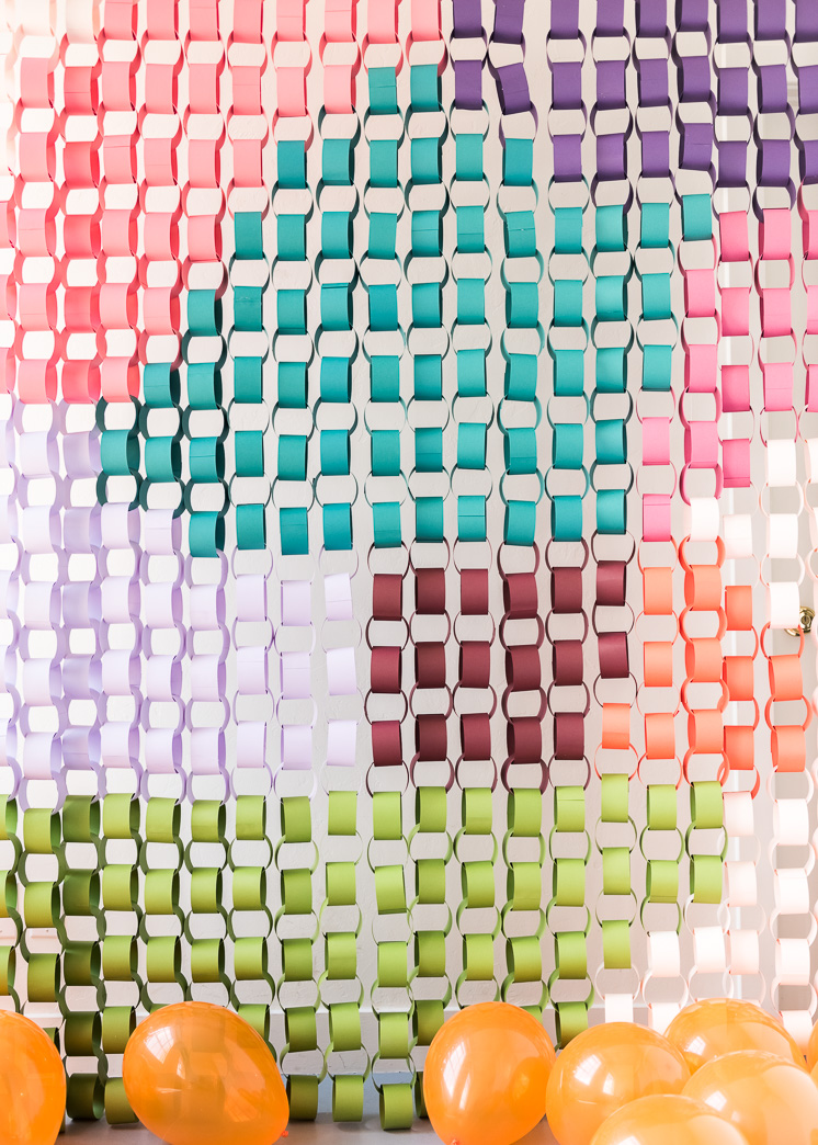Oversized Paper Chain Backdrop