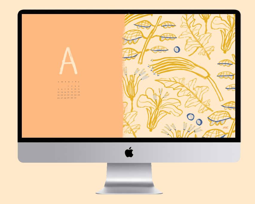 August 2018 desktop calendar