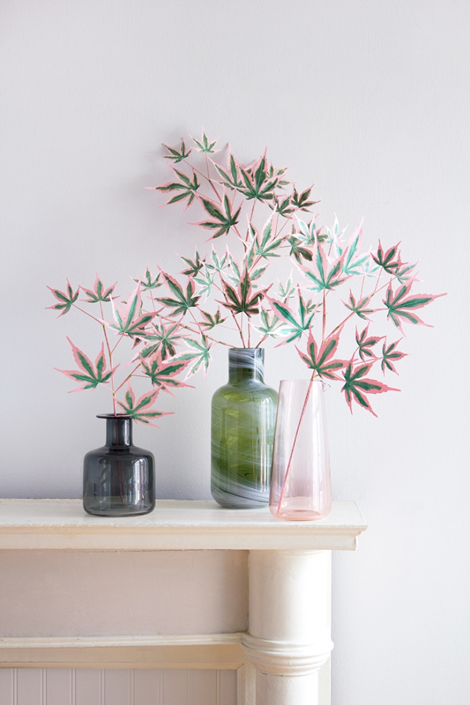 DIY Paper Japanese maple tree