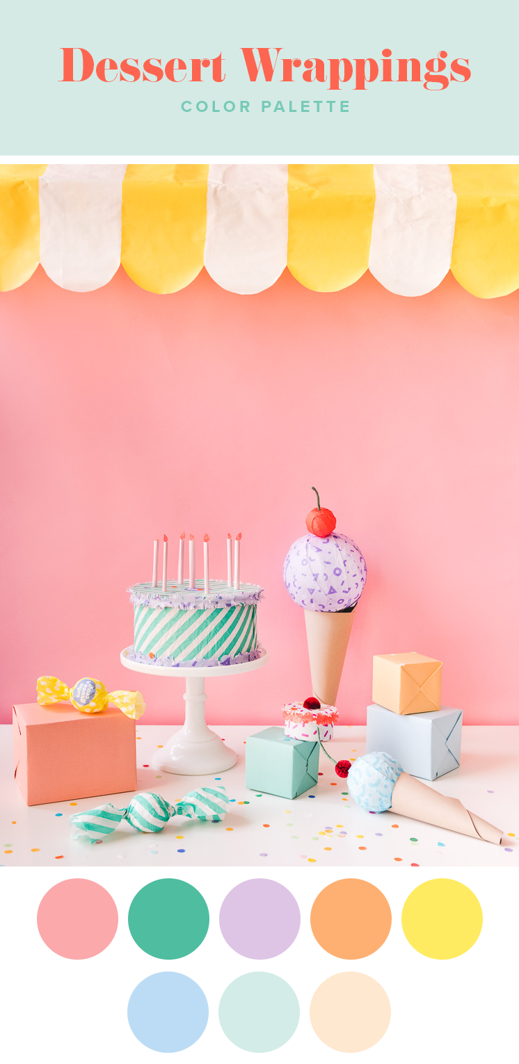 COLOR PALETTE DESSERTS GIFT WRAPPING