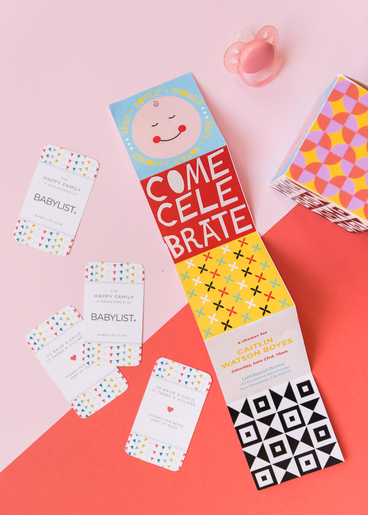 baby registry cards to include with baby shower invitation
