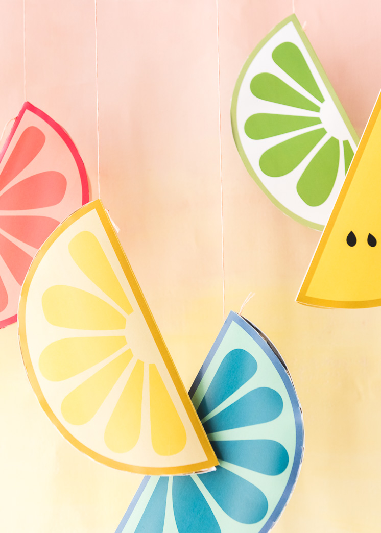 Printable Paper Fruit Decorations