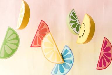Printable Paper Fruit Decorations