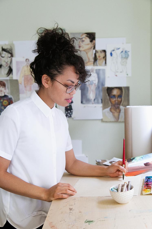 Victoria Riza fashion illustrator