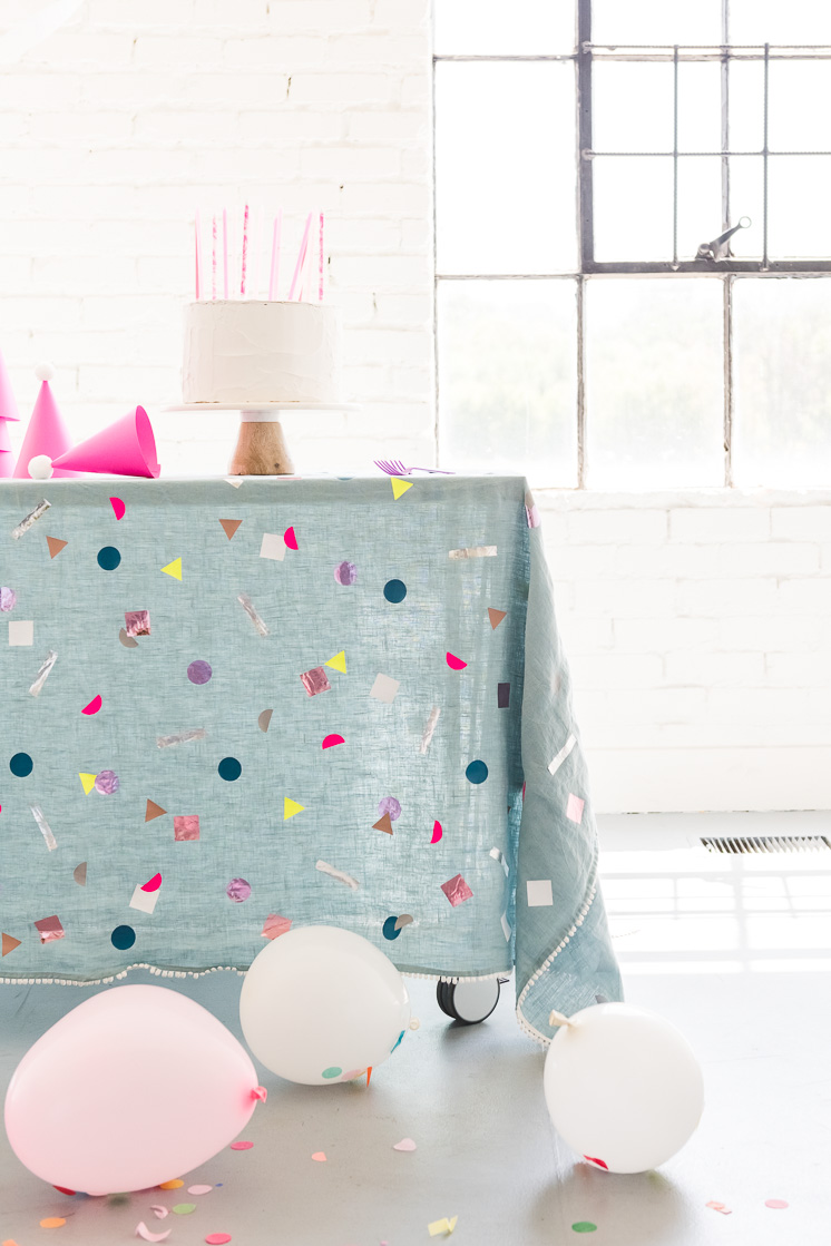 DIY Confetti Tablecloth