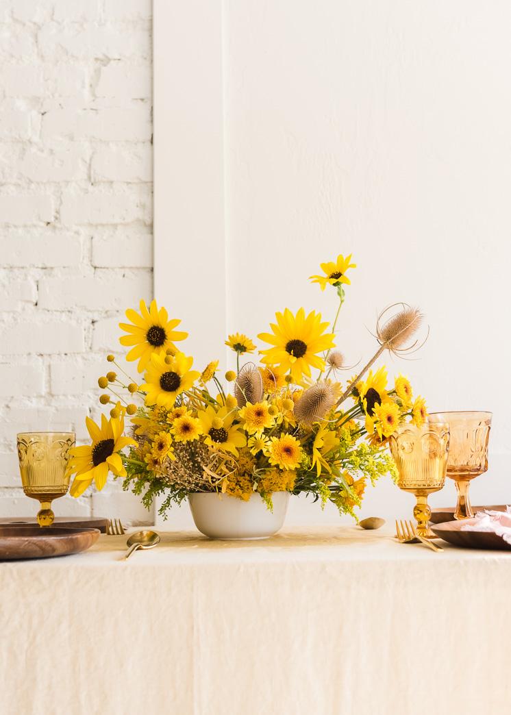 Foraged Fall Sunflower