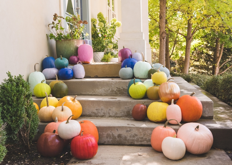 DIY Rainbow Pumpkins