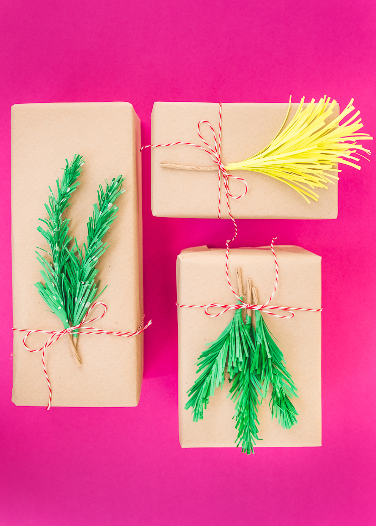Paper Holiday Greenery