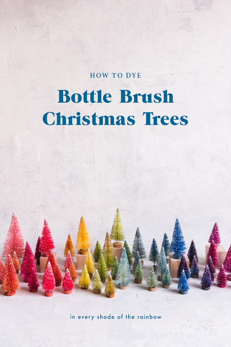 How to dye bottle brush Christmas trees